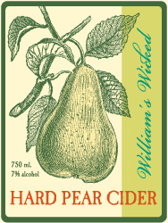William's Wicked Pear Cider Label