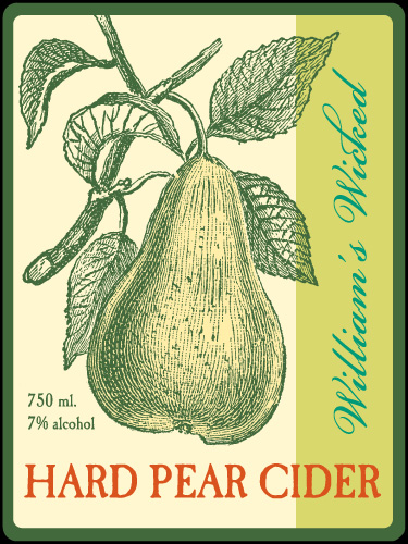 William's Hard Pear Cider Label