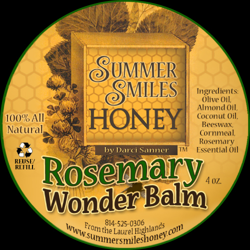 Rosemary Wonder Balm Label