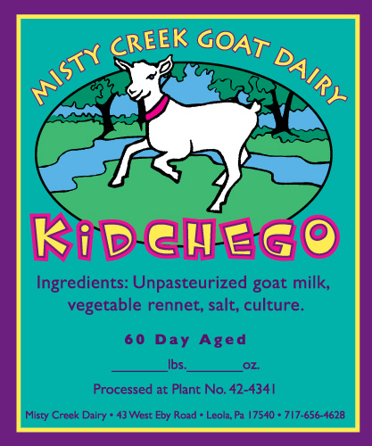 Misty Creek Goat Dairy Labels