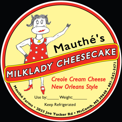 Mauthe's Cheesecake Label