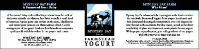 Mystery Bay Farmstead Yogurt