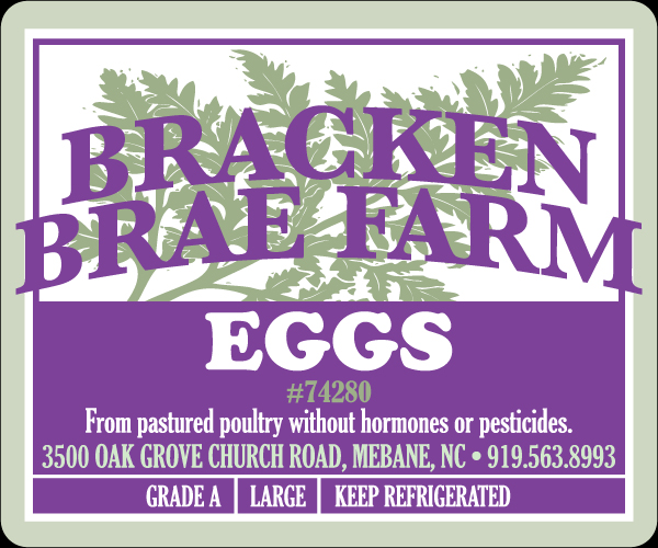Bracken Brae Farms Eggs Labels