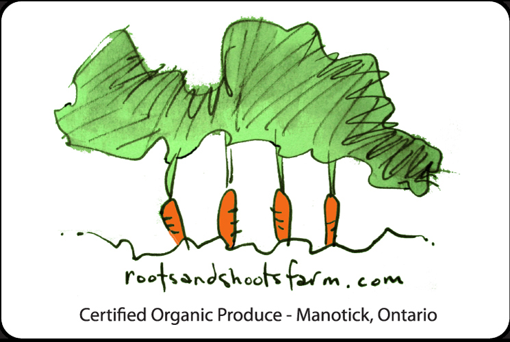 Roots and Shoots Farm Label
