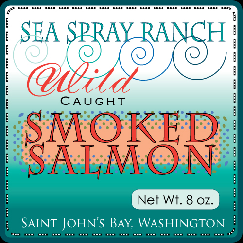 Sea Spray Ranch Smoked Salmon Label