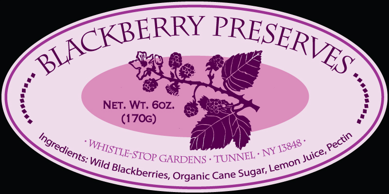 Blackberry Preserves Label