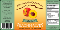 Bowman Mountain Peach Halves