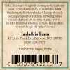 Imladris Farm Blueberry Jam Back Label