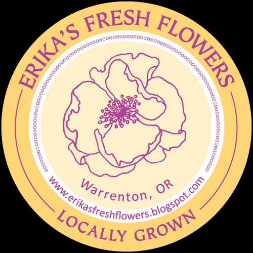 Erika's Fresh Flowers Label