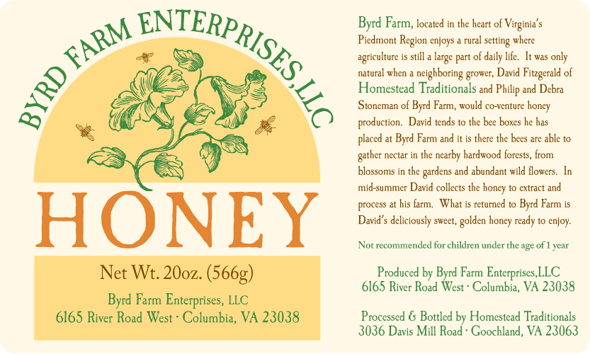 Byrd Farm Honey Label