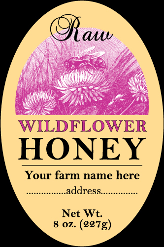 Honey-2 Label Design to Purchase