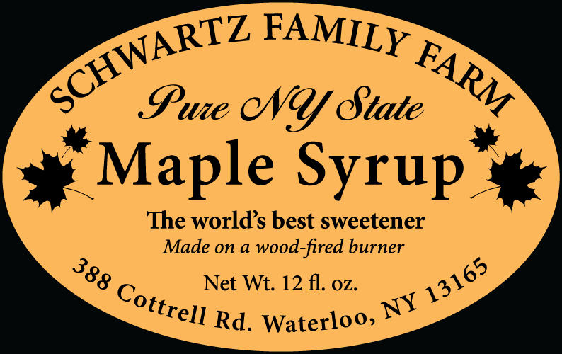 Schwartz Family Farm Maple Syrup Label