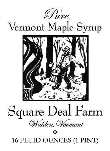 Square Deal Farm Maple Syrup Label