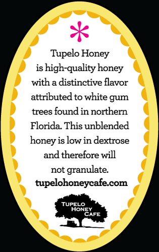 Tupleo Honey Cafe Back Label