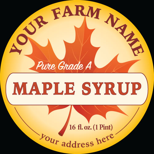 Maple-1 Label Design to Purchase