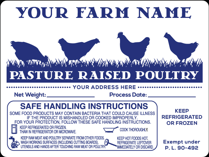 Poultry-10 Pasture Raised Poultry Labels