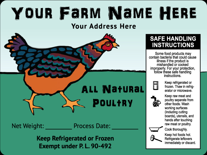 Poultry-13 All Natural Poultry Labels