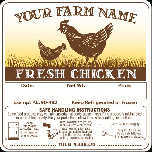 Poultry-3 Fresh Chicken Labels