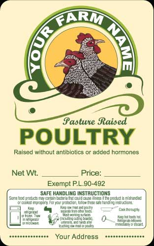 Poultry-5 Pasture Raised Poultry Labels