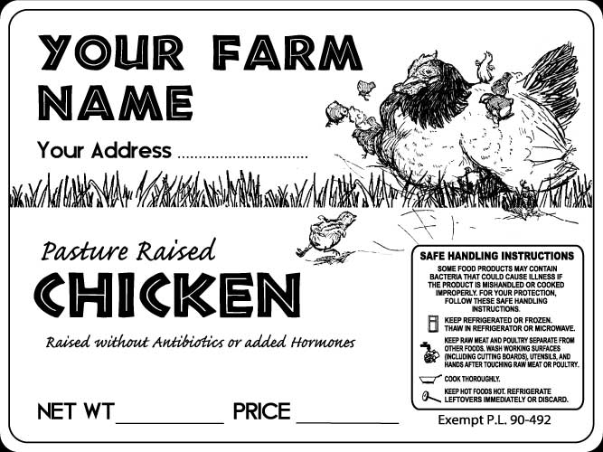 Poultry-7 Pasture Raised Chicken Labels