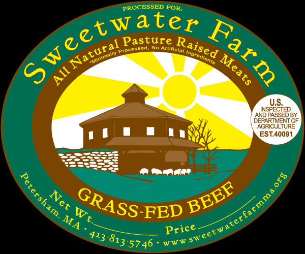 Sweetwater Farm All Natural Pasture Raised Meat Label
