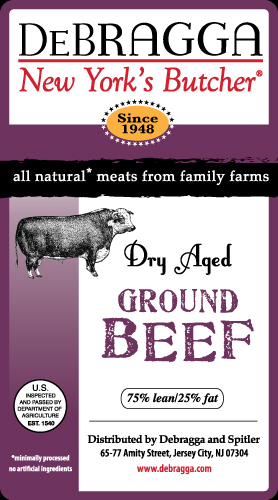 DeBragga All Natural Meats Label