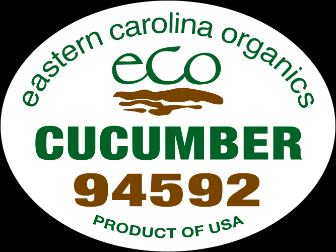 Eastern Carolina Organics Cucumber PLU Label