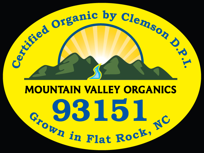 Mountain Valley Organics PLU Label