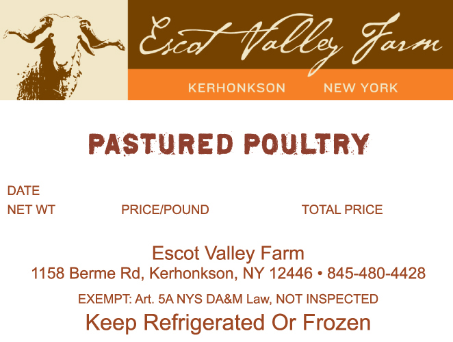 Escot Valley Farm Pastured Poultry