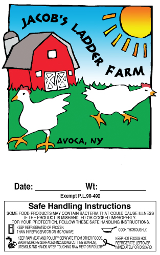 Jacob's Ladder Farm Poultry Label