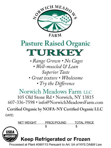 Norwish Meadows Farm Turkey Label