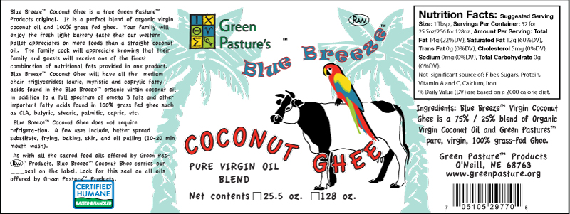 Coconut Ghee - Value Added Label