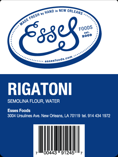 Esses Pasta - Value Added Label