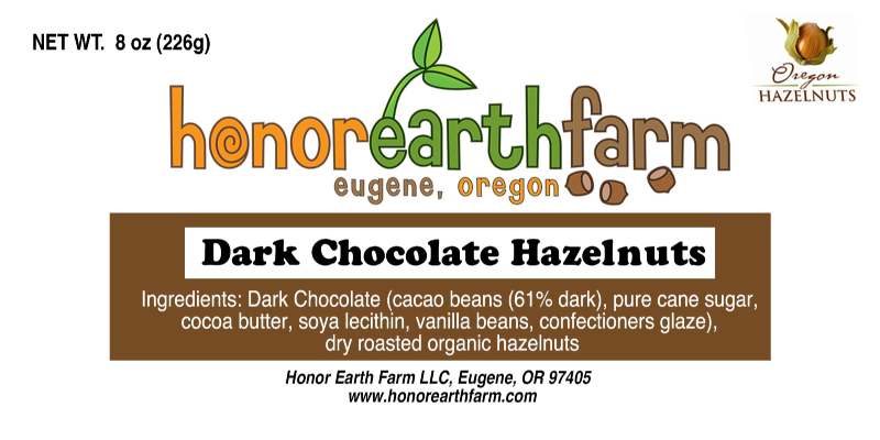 Honor Earth Farm Hazelnut - Value Added Label