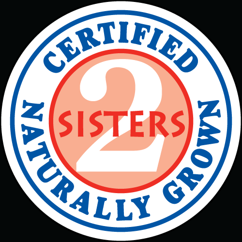 2 Sisters Certified Naturally Grown Vegetable Label