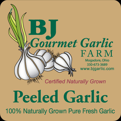 BJ Gourmet Garlic - Vegetable Label